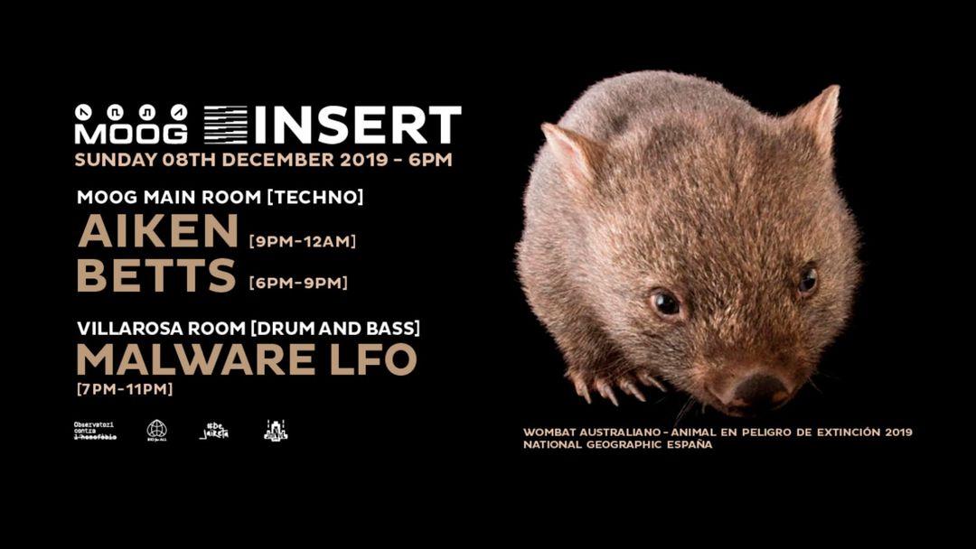 Copertina evento INSERT SUNDAY 171: AIKEN + BETTS + MALWARE LFO