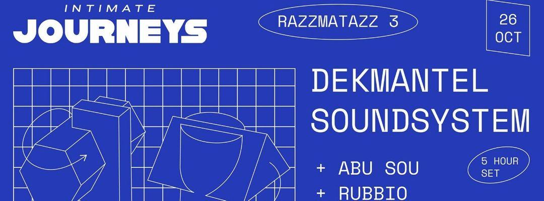 Cartell de l'esdeveniment Intimate Journeys: Dekmantel Soundsystem (5 hour set)