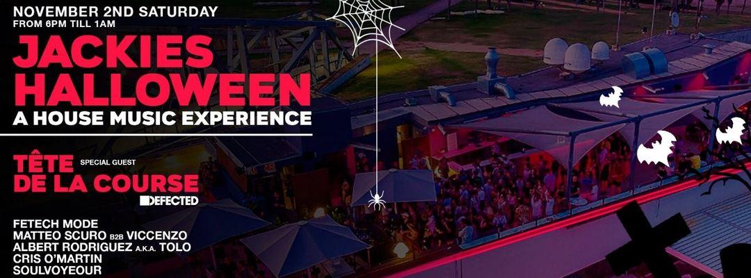 Cartel del evento Jackies Halloween Open Air at Go Beach Club w/ Tete de La Course
