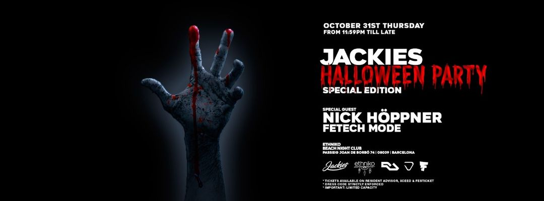 Jackies Pres: Halloween with Nick Hoppner [Panorama Berghain Resident] event cover