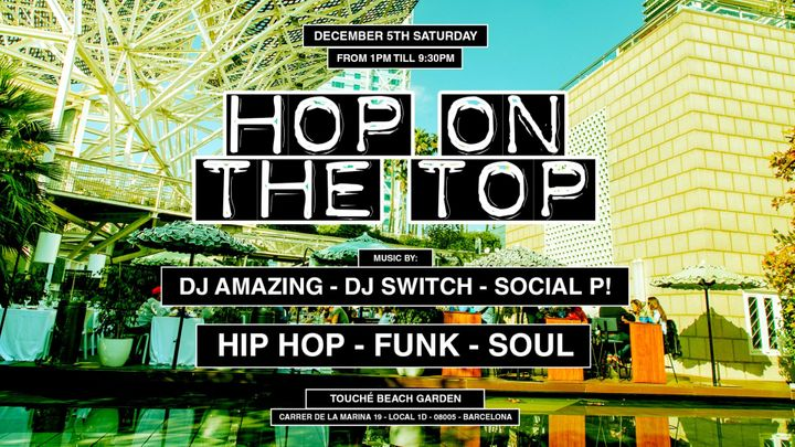 Cover for event: Jackies pres: Hop On The Top Brunch - Hip Hop, Funk & Soul (Covered Terrace)