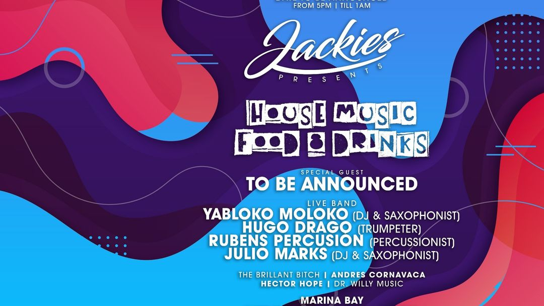 Jackies pres: House Music with Davina Moss (Dj's / Saxo, Trumpet, Synth + Percussion Live)-Eventplakat