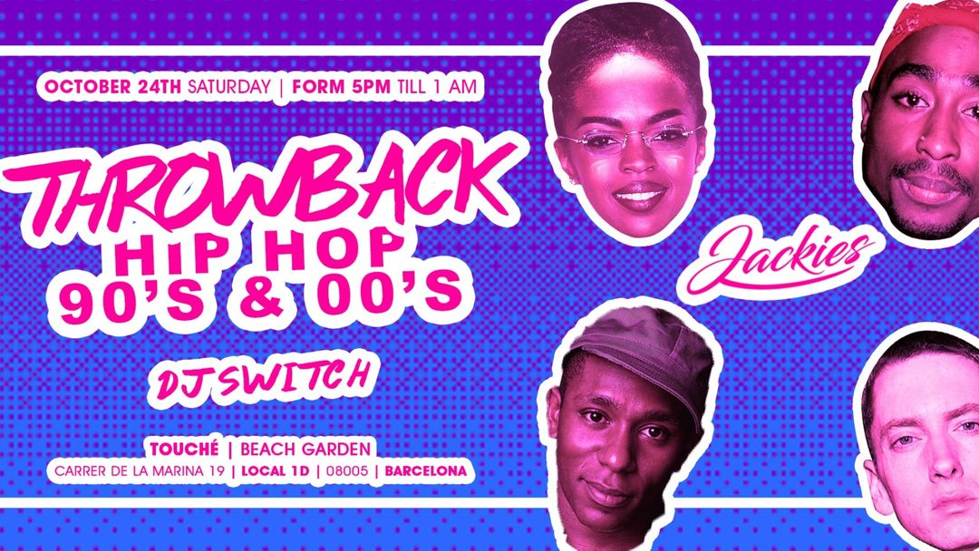 Jackies pres: Throwback Hip Hop 90' & 00' Rooftop Party event cover