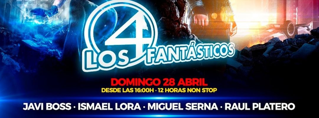 Cartel del evento Javi Boss, Miguel Serna, Ismael Lora y Raúl Platero en Jango XL