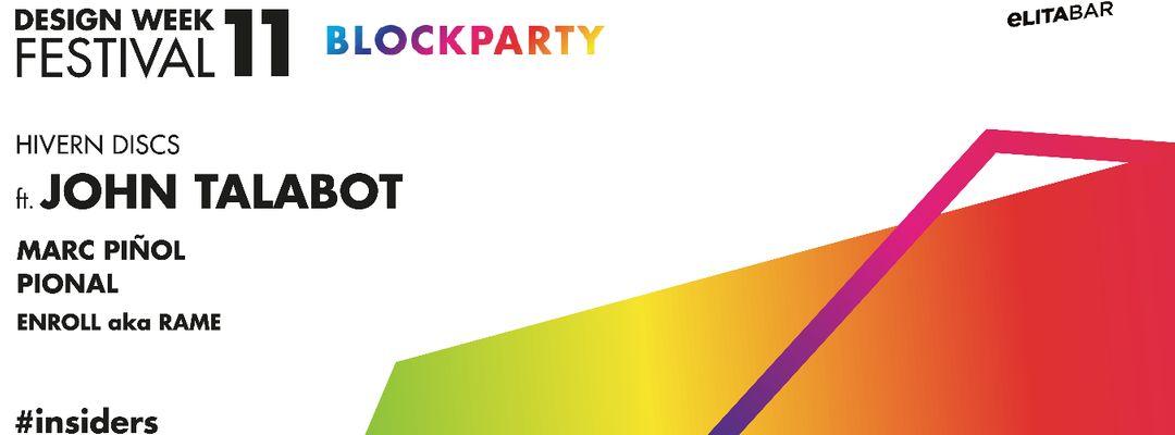 Cartel del evento JOHN TALABOT & Hivern Discs | Elita Bar / Block Party