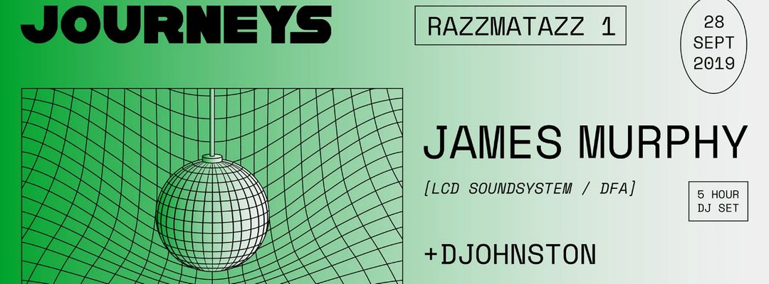 Cartel del evento Journeys: James Murphy (5 hour dj set) + Djohnston
