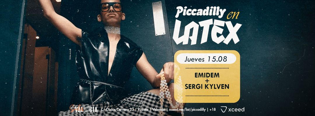 Cartell de l'esdeveniment Jueves / Summer Nights _ Piccadilly en Latex