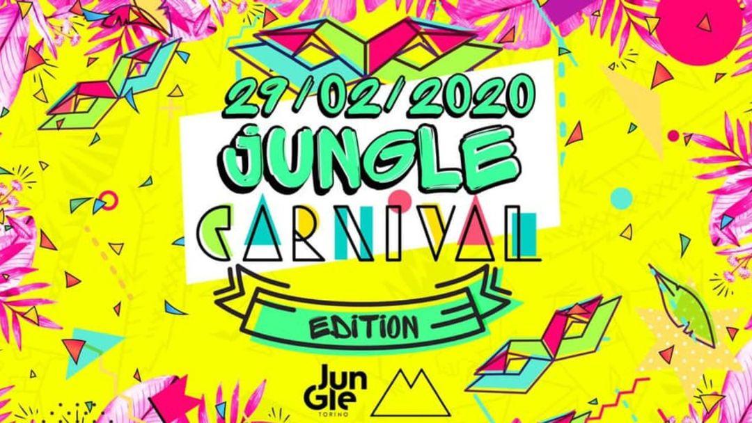 Jungle Carnival Edition at MILK Torino 29 - 2 - 2020-Eventplakat