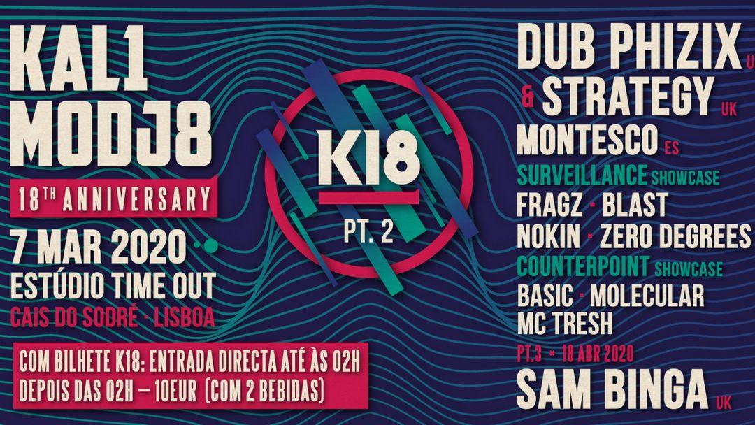K18 - KALIMODJO 18TH ANNIVERSARY PART 2 event cover