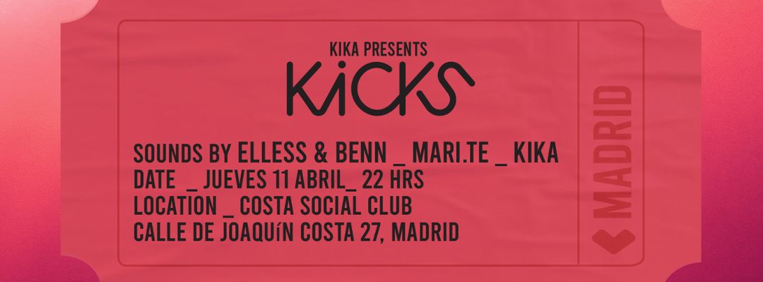 Cartel del evento KIKCS BY KIKA THURSDAY 11TH @ COSTA SOCIAL CLUB