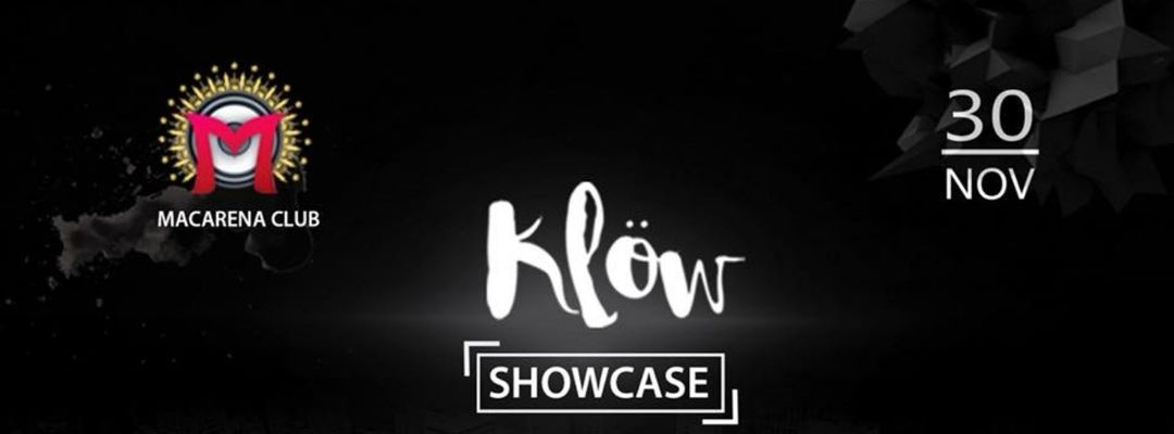 Cartel del evento Klöw Showcase