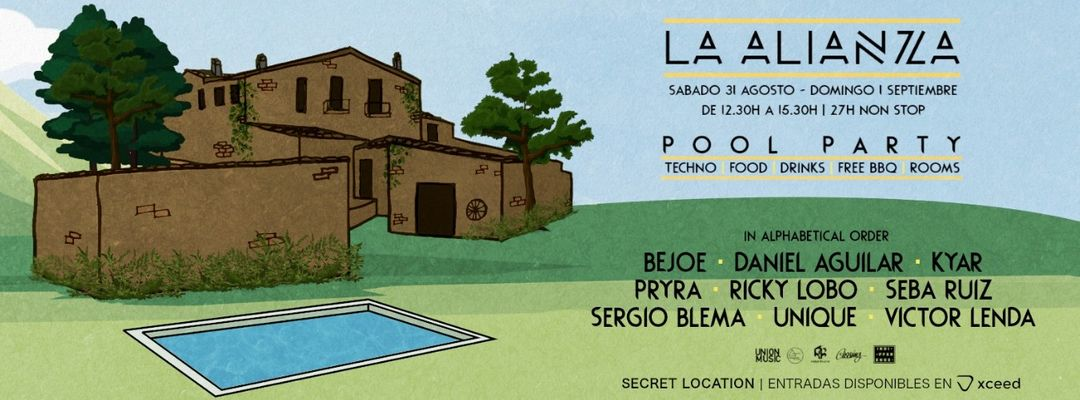 La Alianza - Pool Party-Eventplakat