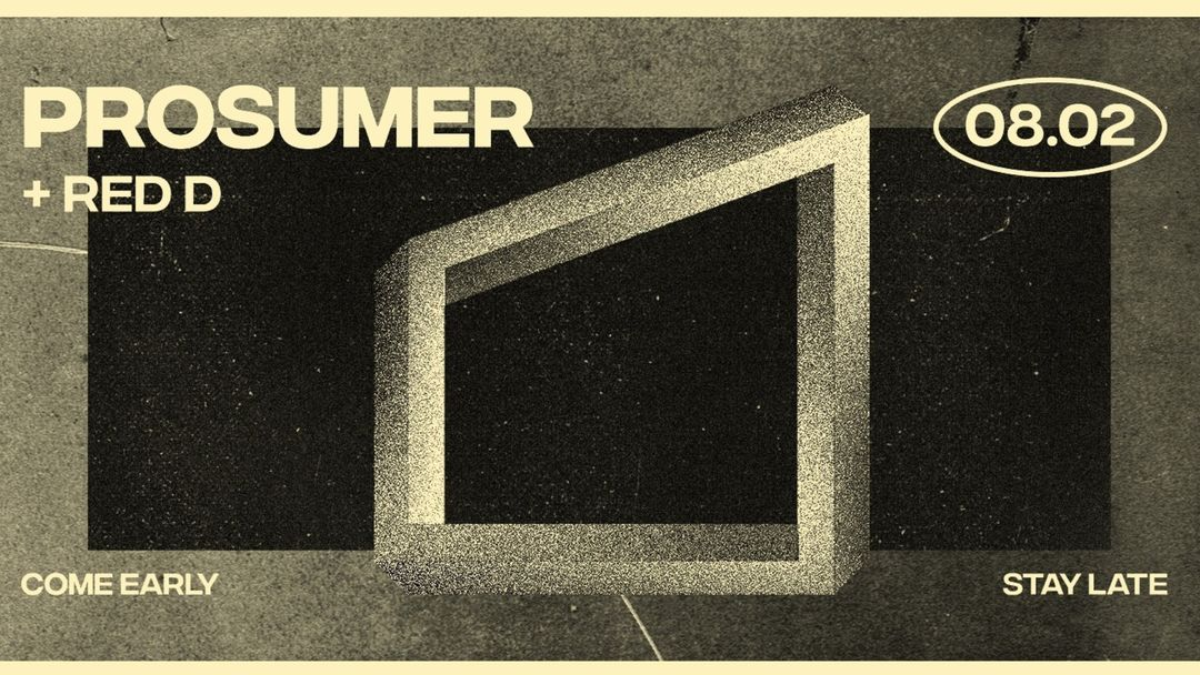 Cartel del evento La Cabane | Prosumer + Red D