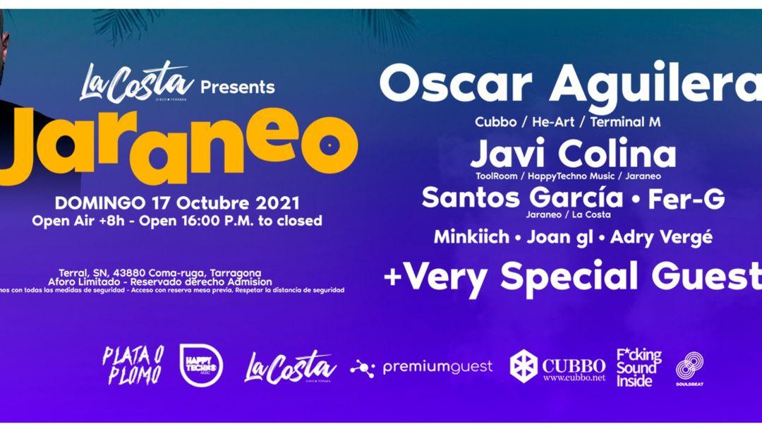 Cartel del evento La Costa & Jaraneo pres. OSCAR AGUILERA + Very Special Guest