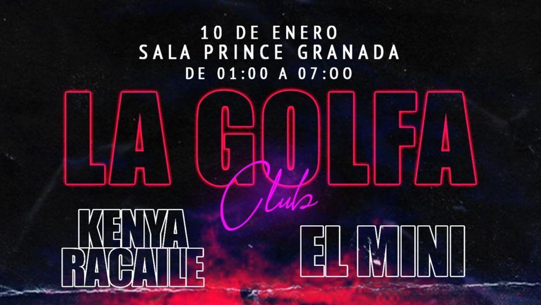 Cartel del evento La Golfa 10 de Enero
