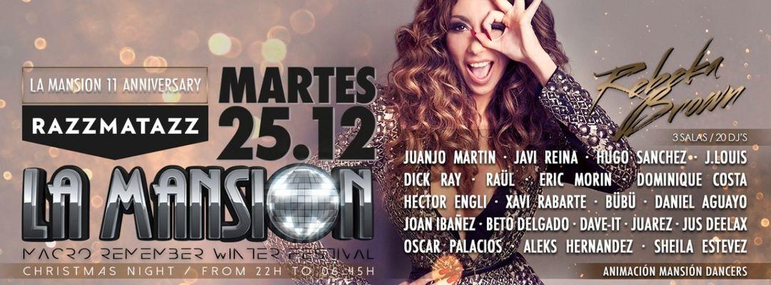 Cartel del evento La Mansion Macro Remember Winter Festival @ Razzmatazz