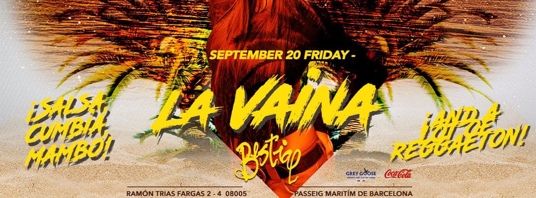 Capa do evento La Vaina - Bestial Beach Club