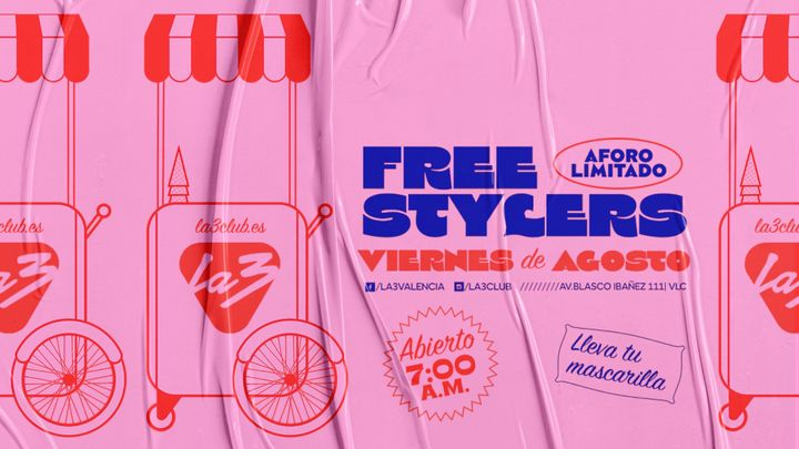 Cover for event: LA3 FRIDAYS. FREESTYLERS