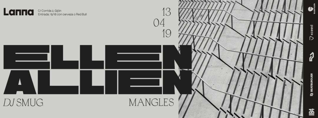 Capa do evento Lanna presenta: Ellen Allien, Dj Smug, Manglés