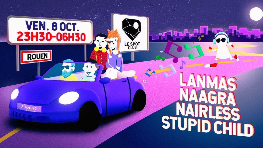 L'APPART MUSIC @ LE SPOT CLUB-Eventplakat