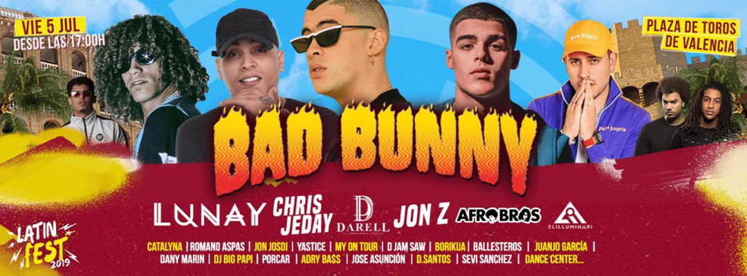 Capa do evento Latin Fest 2019 - Bad Bunny & Lunay