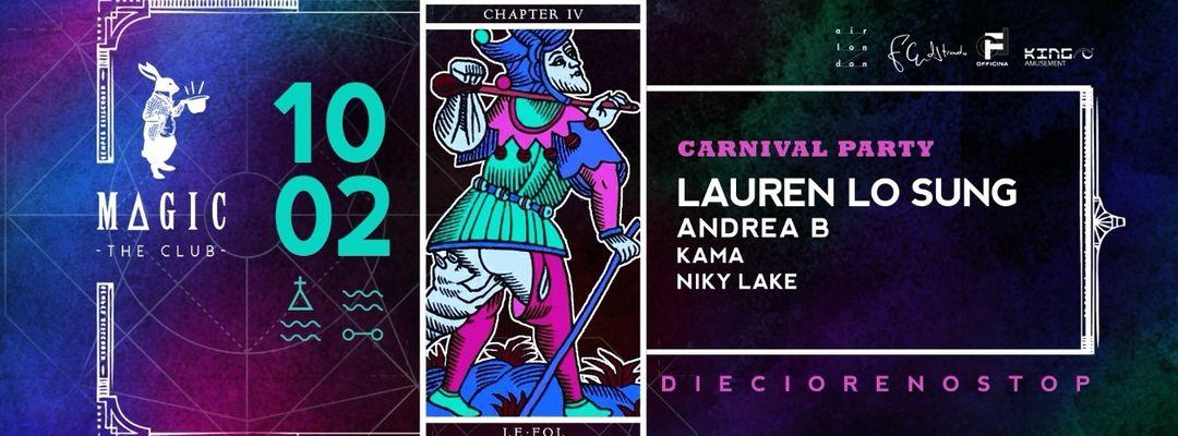 Cartel del evento Le Fol   Carnival Party - w/ Lauren Lo Sung