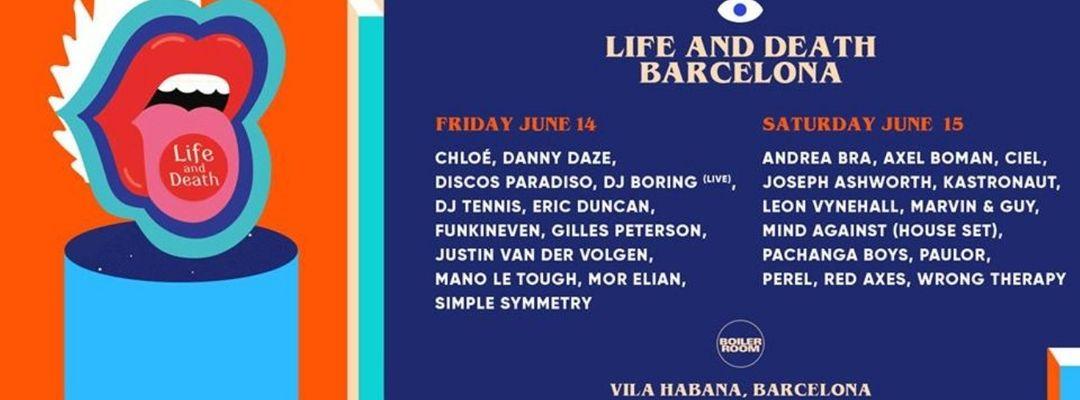 Cartel del evento Life and Death Weekender Barcelona - Saturday June 15