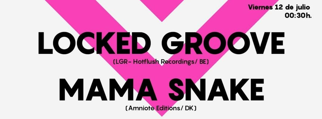 Cartel del evento Locked Groove & Mama Snake at Astin