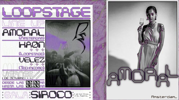 Cover for event: Loopstage w/ Amoral