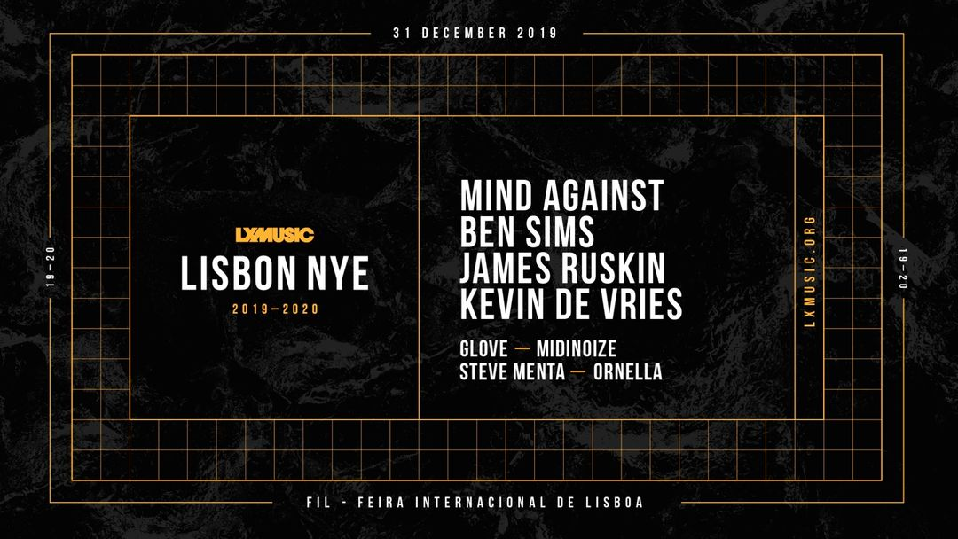 Cartel del evento LX MUSIC Lisbon NYE 2019-20