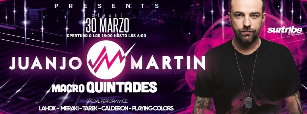 Cartell de l'esdeveniment Macro Quintades Muro w/ Juanjo Martin