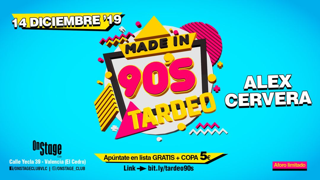 Made in 90's TARDEO - OnStage-Eventplakat