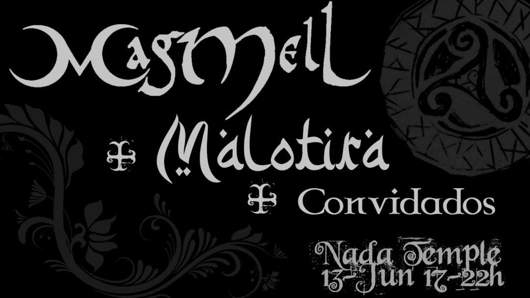Copertina evento MagMell + Malotira no Nada Temple