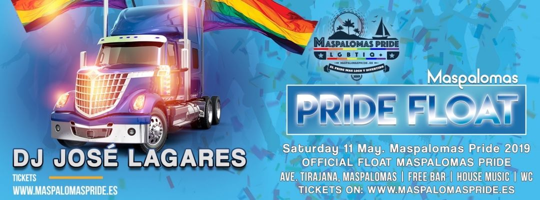 Couverture de l'événement MASPALOMAS OFFICIAL FLOAT - Maspalomas Pride Parade 2019