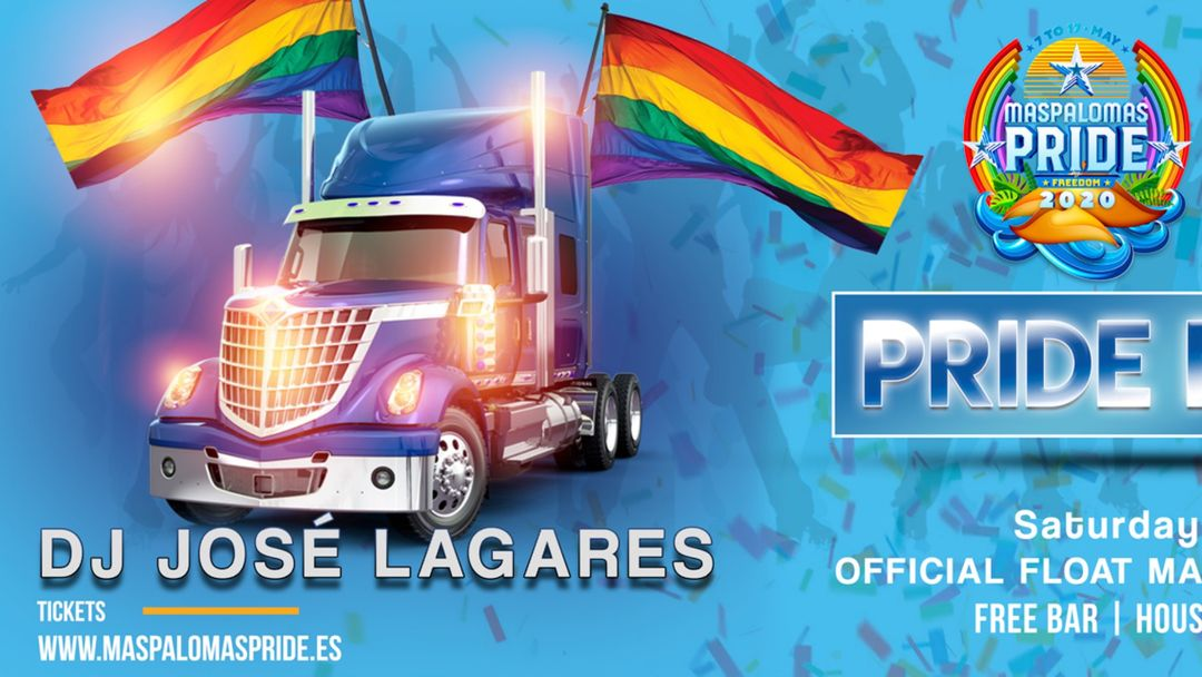 Maspalomas Pride OFFICIAL FLOAT 2021 event cover