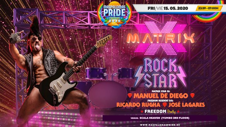 Cover for event: MATRIX Rock Star - Powered by FREEDOM Party - Official Event Maspalomas Pride 2020