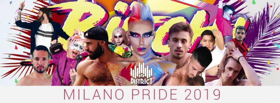 Cartel del evento MILANO PRIDE PARTY 2019