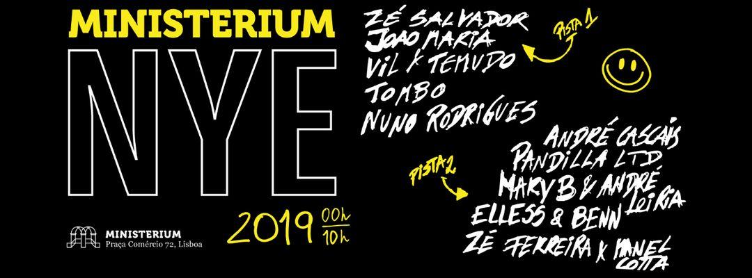 Cartel del evento Ministerium NYE 2019