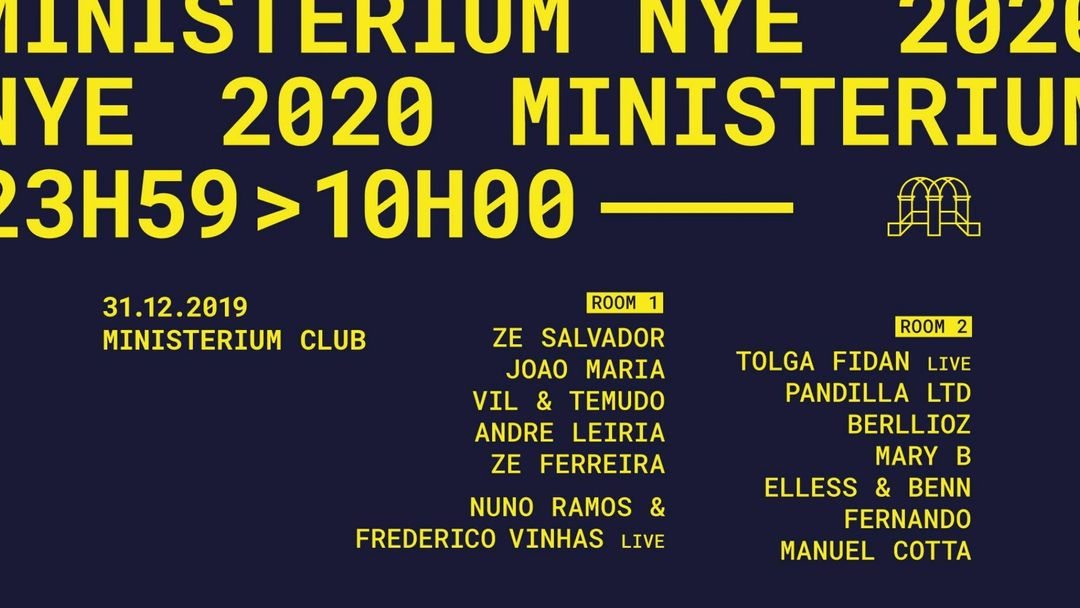 MINISTERIUM NYE 2020 event cover