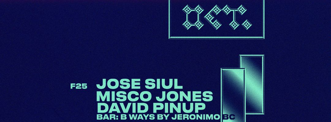 Cartel del evento MISCO JONES + JOSÉ SIUL + DAVID PINUP