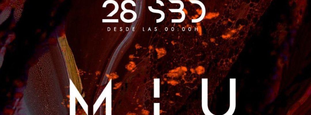MIU CLUB MARBELLA 28 septiembre-Eventplakat