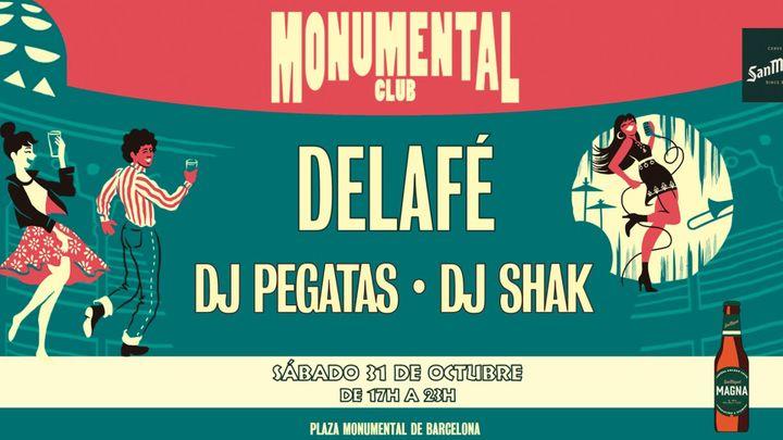 Cover for event: [CANCELADO] Monumental Club - 31de octubre: Delafé + DJ Pegatas + DJ Shak