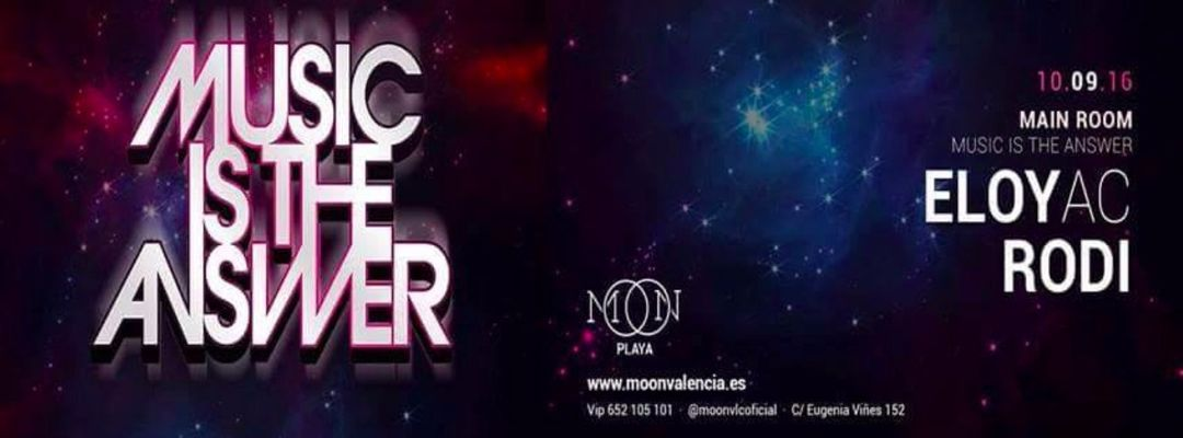 Cartel del evento Music is The Answer