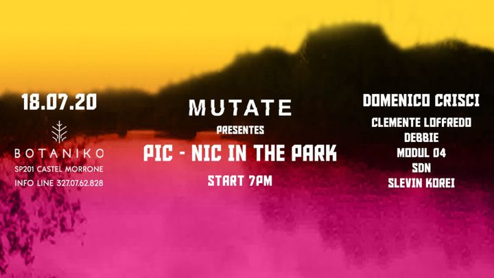Cover for event: Mutate presents: Pic-Nic in the Park!