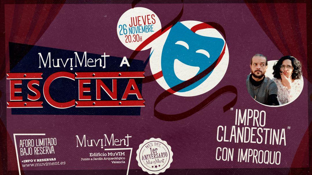 Muviment a EsCena: Impro clandestina con Improquo event cover