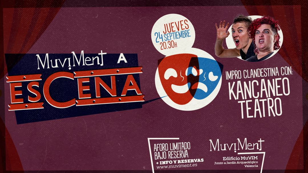Muviment a EsCena: Impro Clandestina con Kancaneo Teatro-Eventplakat