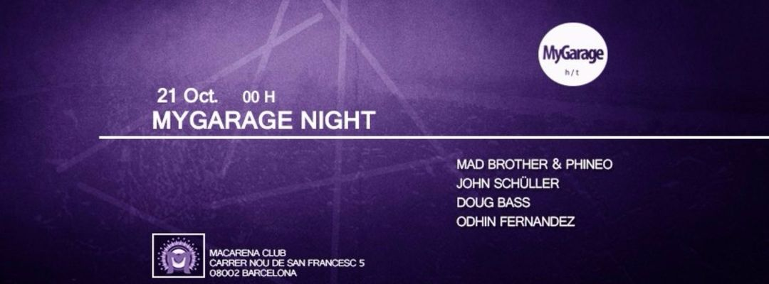 Cartel del evento MyGarage Night
