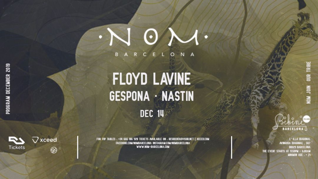 Cartell de l'esdeveniment N O M pres: Floyd Lavine, Gespona, Nastin