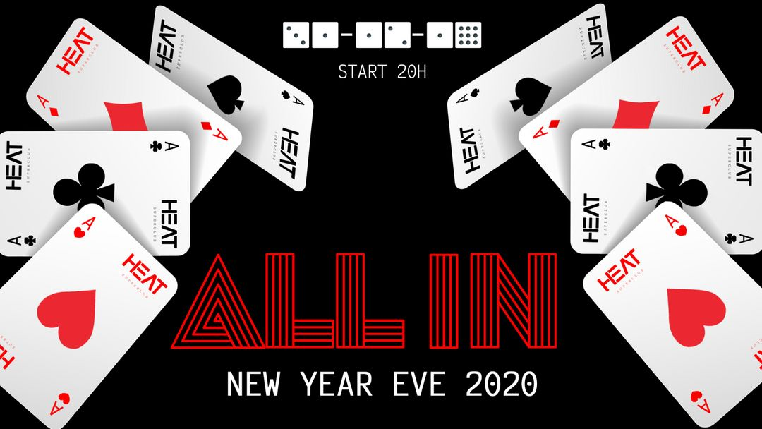 New Year Eve 2020 : ALL IN - Casino event cover