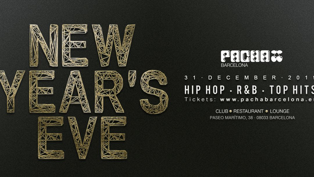 Cartel del evento New Year's Eve at Pacha Barcelona